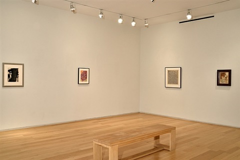 abstract expressionist works on paper installation view