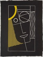 modern head ii by roy lichtenstein