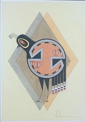 geometric quail by tony da