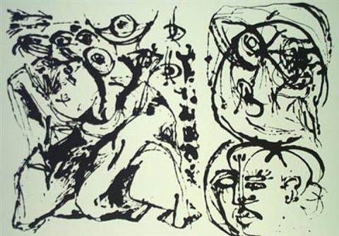 untitled (based on the painting cr328) by jackson pollock