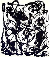 untitled (based on the painting cr333) by jackson pollock