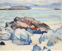 rocks, iona by samuel john peploe