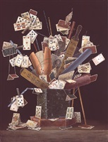 bouquet of cards by elena and michel gran