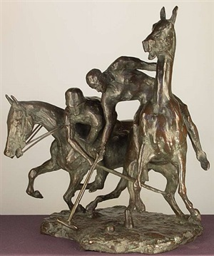 polospielers (polo players) by alfred (fred) hans voelckerling