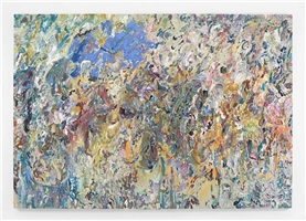 the flying blue cat (011a-2) by larry poons