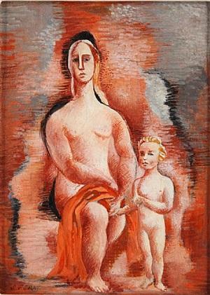 femme et enfant by serge ferat