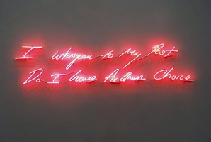 i whisper to my past, do i have another choice by tracey emin