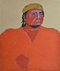 untitled (indian portrait) by fritz scholder
