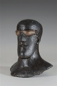 goggle head ii (teeth) by elisabeth frink
