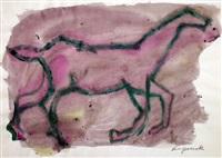 ohne titel (pferd) by a.r. penck