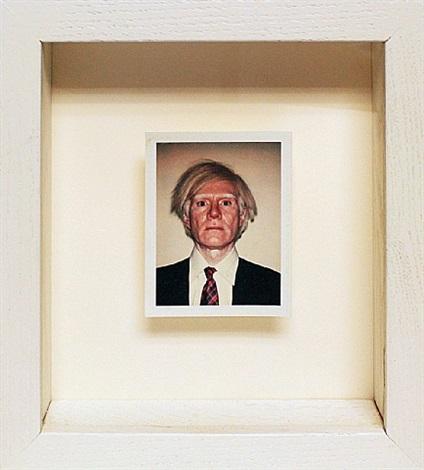 polaroid self-portrait by andy warhol