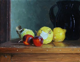 quince and crabapples (sold) by vincent giarrano