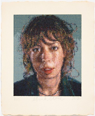 cecily / felt hand stamp by chuck close