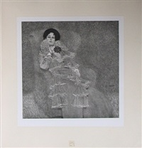 <u>portrait of marie henneberg</u> from das werk by gustav klimt