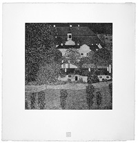 <u>schloss by lake attersee</u> from das werk by gustav klimt