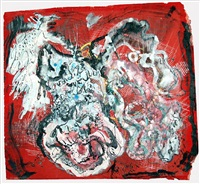 untitled (figures on red ground) by irene rice pereira