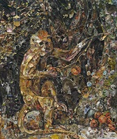 green monkey, after george stubbs, pictures of magazine 2 by vik muniz