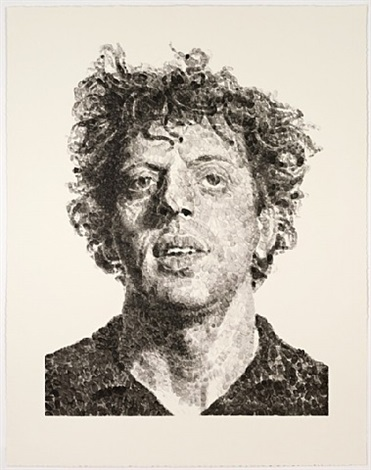 phil (fingerprint) by chuck close