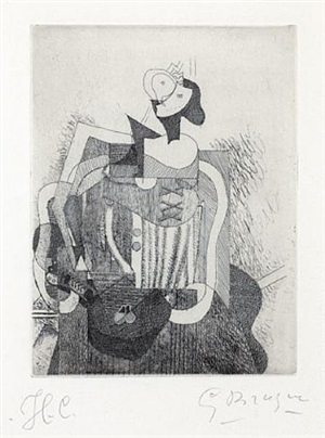 femme assise by georges braque