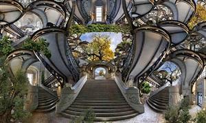 escalier grand palais by jean-francois rauzier