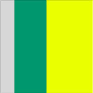 white, aqua, yellow by ron agam