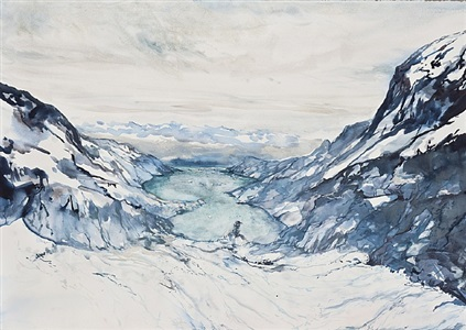 turquoise glacier by shelly malkin