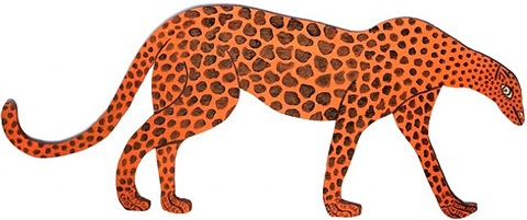 the great cheetah by howard finster