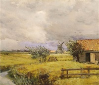 les moulins (a summer storm) by jean-charles cazin