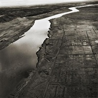 old hanford city site and the columbia river, hanford nuclear reservation, near richland, washington, 1986 by emmet gowin