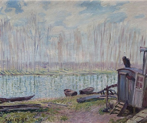bords du loing by alfred sisley