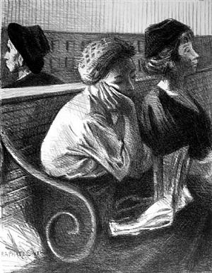 railroad waiting room by raphael soyer