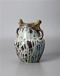 handled harmony vase by edmond lachenal and emile decoeur