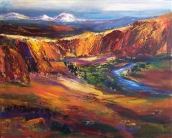 deschutes river view by jean schwalbe