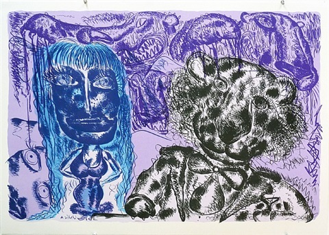 image ii-b (purple) by bjarne melgaard