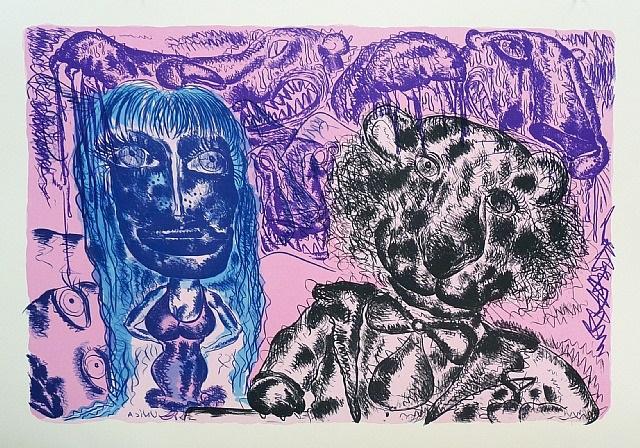 image ii-b (pink) by bjarne melgaard