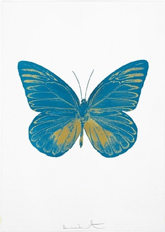 the souls i - topaz and oriental gold by damien hirst
