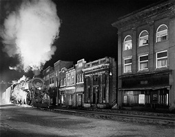main line on main street, north fork, west virginia by o. winston link