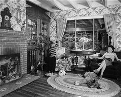 living room on the tracks, lithia, virginia by o. winston link