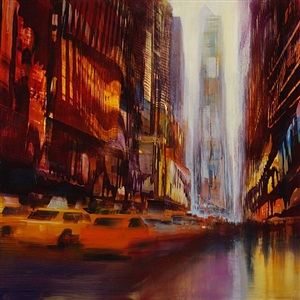 times square, speed (sold) by david allen dunlop
