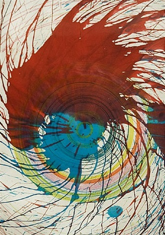 untitled (spin painting) by damien hirst