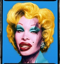 amanda as andy warhol's marilyn (blue) by david lachapelle