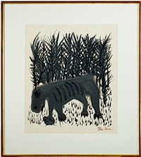 one must know the animals (inventory #5208g) by ben shahn