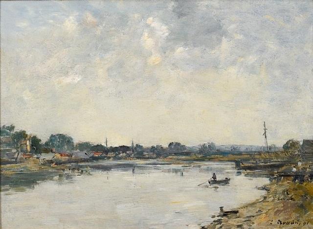 la somme à saint-valéry-sur-somme (sold) by eugène boudin