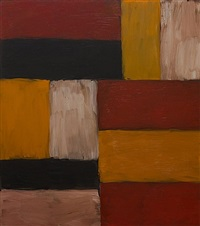 wall of light red yellow by sean scully