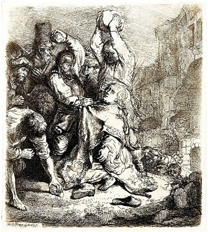 the stoning of st. stephen (sold) by rembrandt van rijn