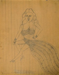 stage girl by morris hirshfield