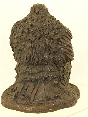 owl (unfinished) by leonard baskin