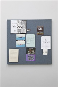 pinboard project (flight blue) by liam gillick
