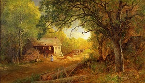 a sawmill in the woods by ralph albert blakelock