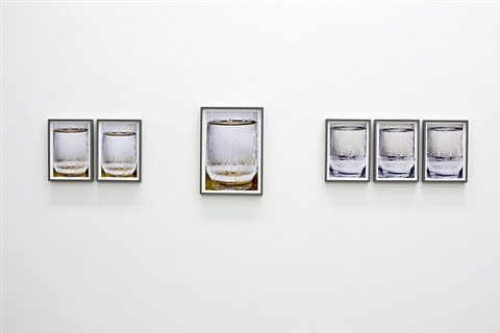 """ausstellungsansicht """"thomas florschuetz – glas/wasser"""" in der galerie m bochum, 2013 by thomas florschuetz"""